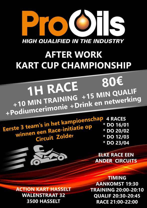 Pro-Oils After Work Kart Cup